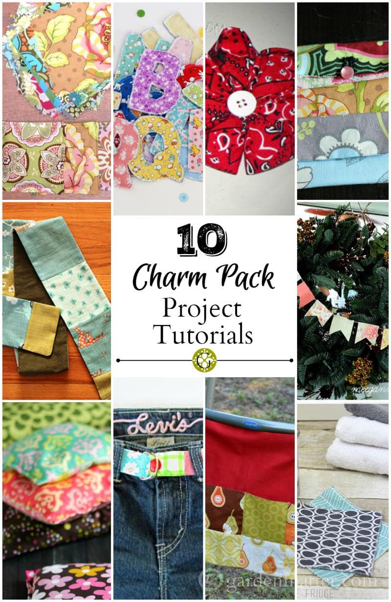 10 Charm Pack Project Tutorials. Great easy crafts that you can make with 5 inch squares of fabric. - gardenmatter.com