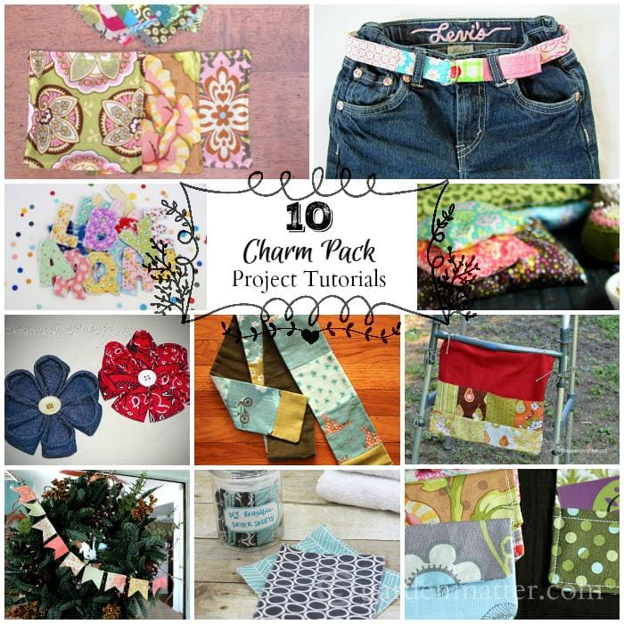 10 Charm Pack Tutorials collage - gardenmatter.com