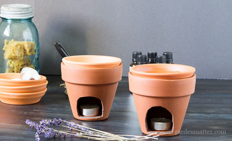 Finished Diffusers ~ DIY Terracotta Diffuser ~ gardenmatter.com