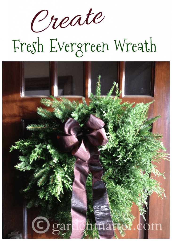 Learn how to easily make your own fresh evergreen wreath. If you have materials in your landscape or know someone who does it will cost very little to make.