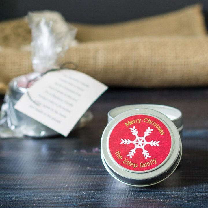 Handmade gifts bayberry candle for good luck