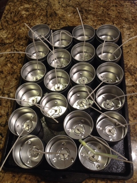 candle tins for bayberry candles
