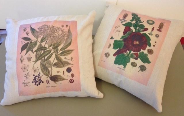 Botanical Print Pillows