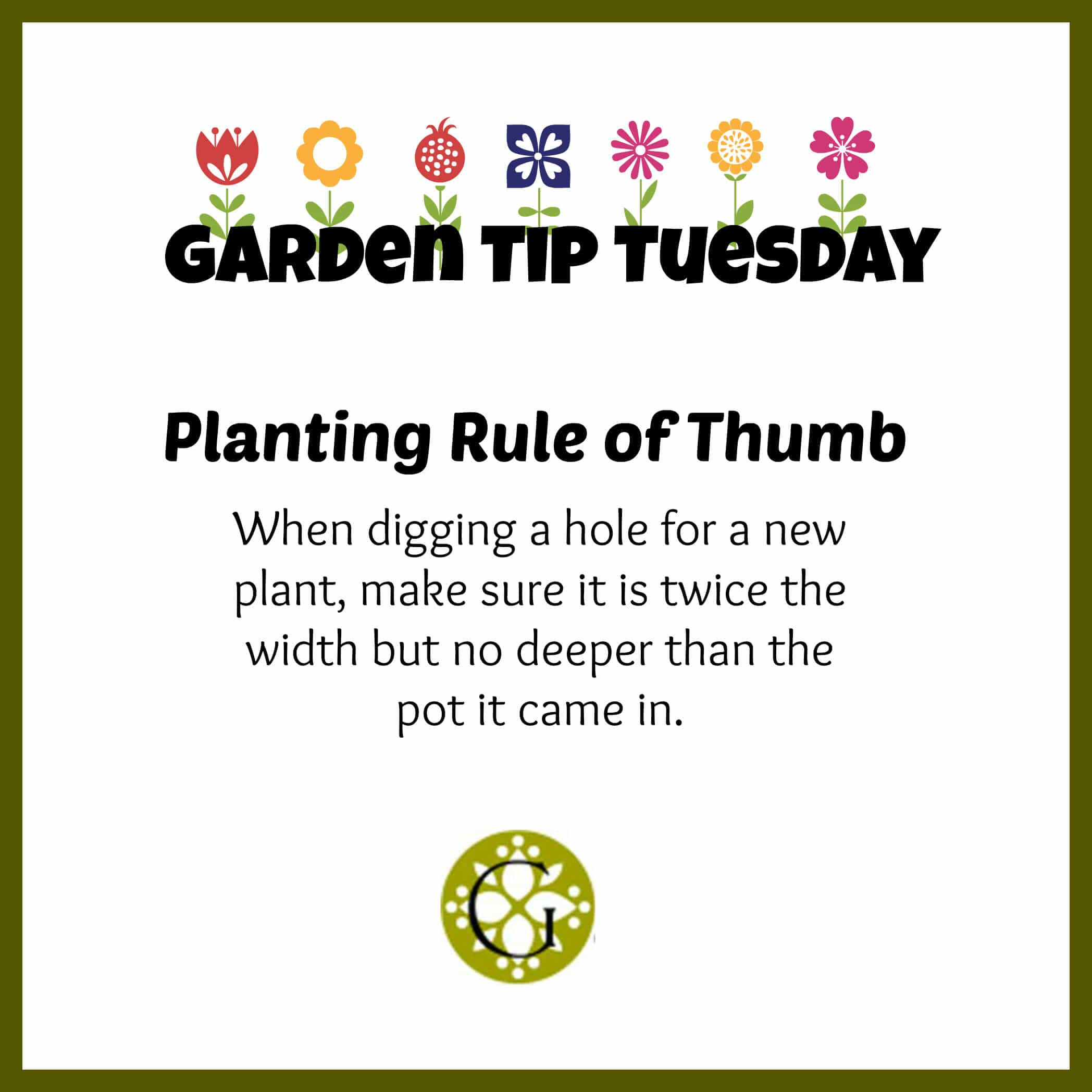 Planting Rule of Thumb