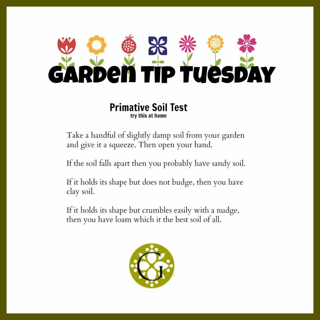 Garden TipTuesday Soil Test