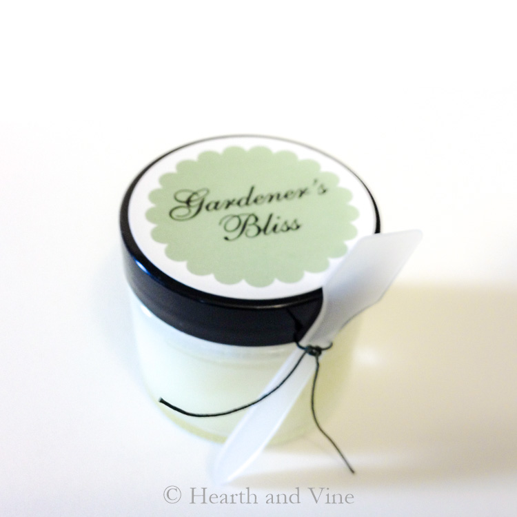 Hand salve jar of gardeners bliss