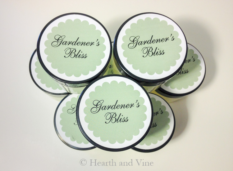 Stack of Gardener's Bliss hand salve