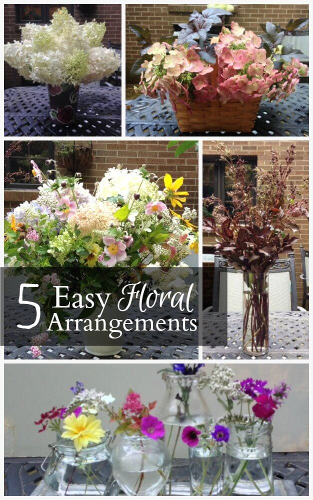 Get inspired by five different flower arrangements that you can easily put together with readily available items in your own home..com
