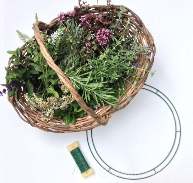Harvest Wreath Supplies ~ Harvest Wreath ~ gardenmatter.com