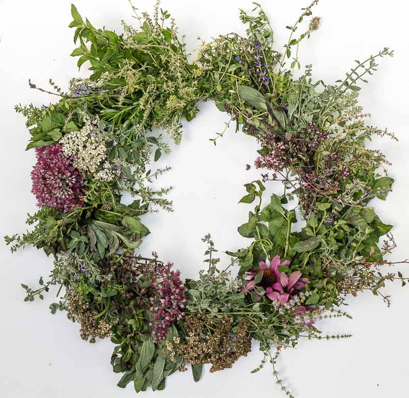 Easy Herbal Harvest Wreath Tutorial