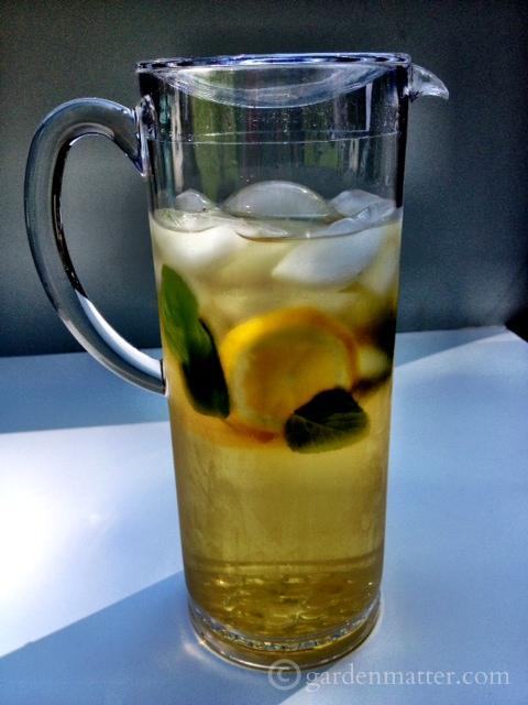 Making iced tea from mint is a great way to use your herbs.