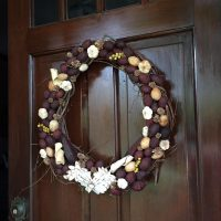 Easy Fall Wreath with Potpourri