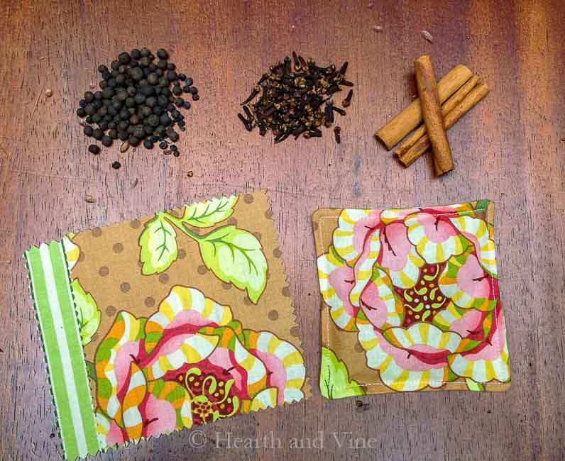spices fabric and mug mat