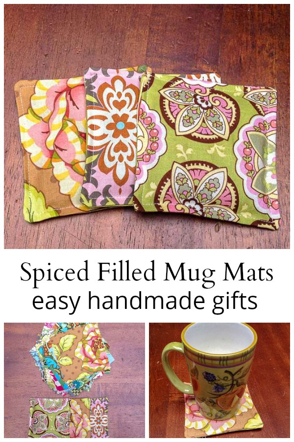 Scented mug mat collage