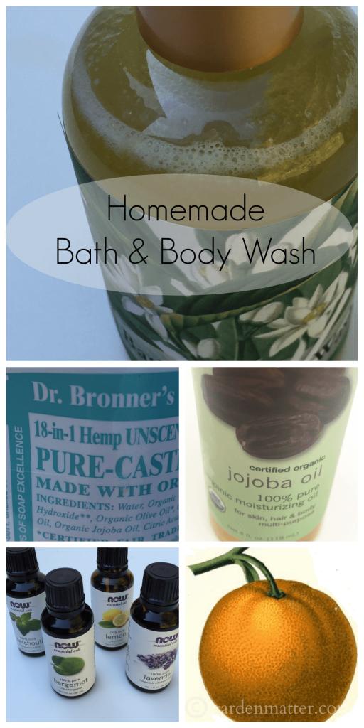 Homemade Bath & Body Wash ~ gardenmatter.com