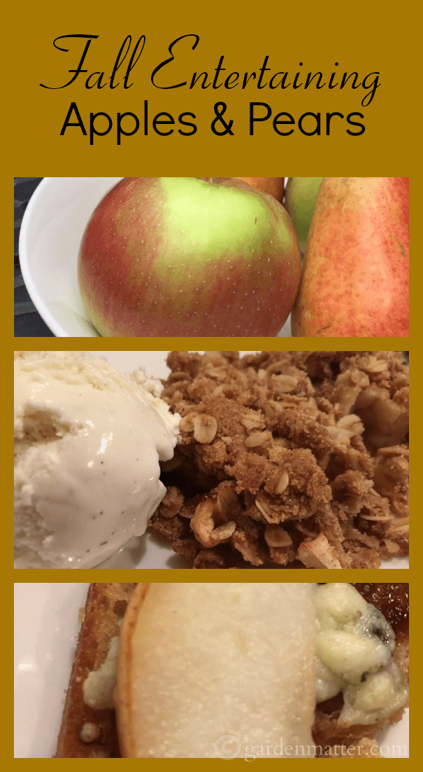 Fall Entertaining with Apples & Pears