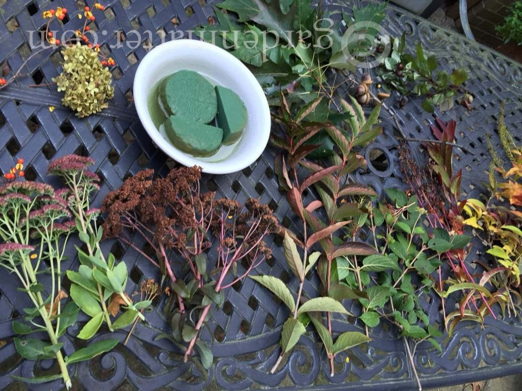 Fall foraged centerpiece plants