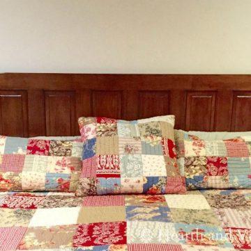Kind size bed with door headboard