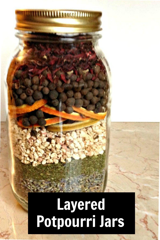 Layered potpourri jar