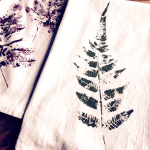 fern printed towels