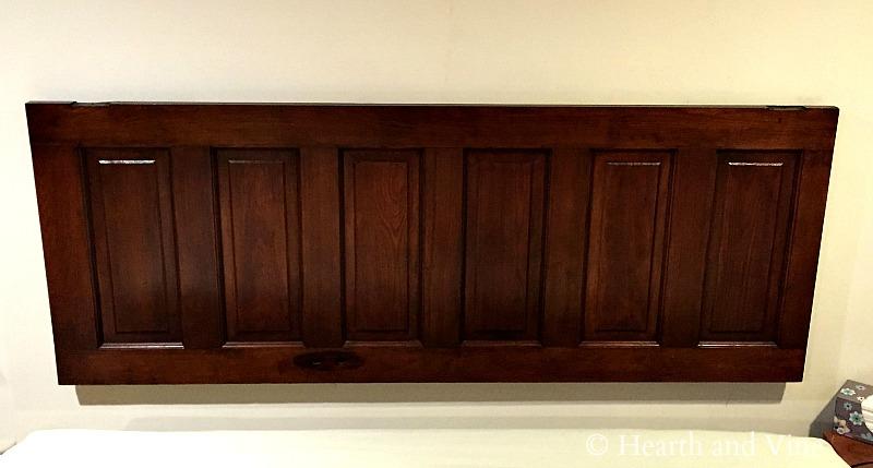 Door headboard hung on wall