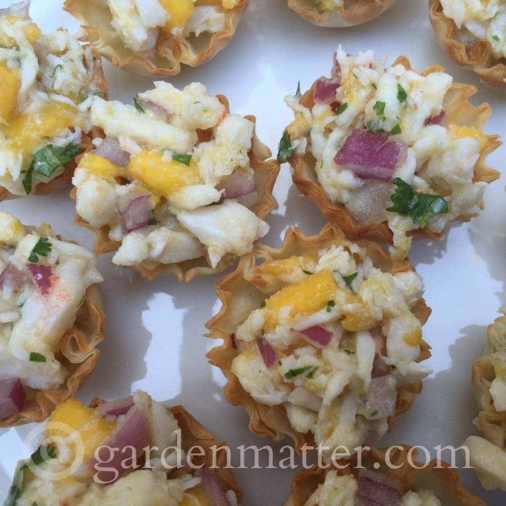 Meyer Lemon Crab Appetizer