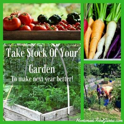 Take stock of the garden