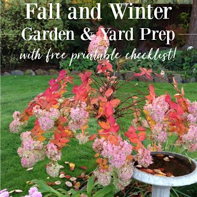 Winter garden prep.