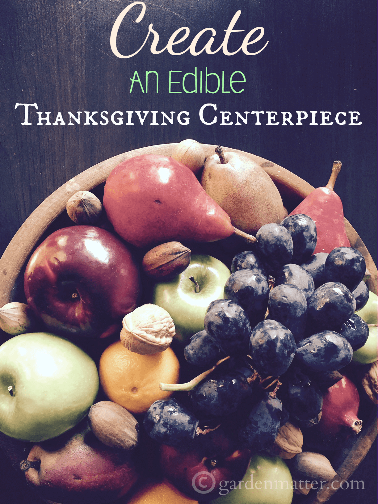 Learn how to easily make an Thanksgiving edible centerpiece that can double as dessert.