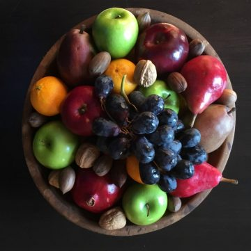 Edible Centerpiece with fruit and nuts