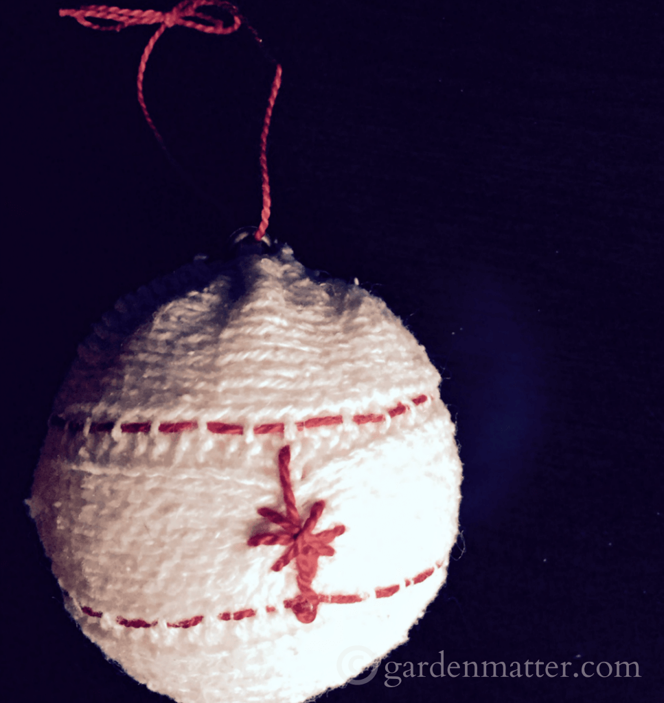 Handmade Embroidered Sweater Ornament