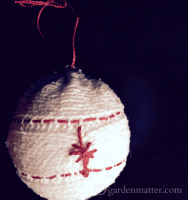 embroidered sweater ornament