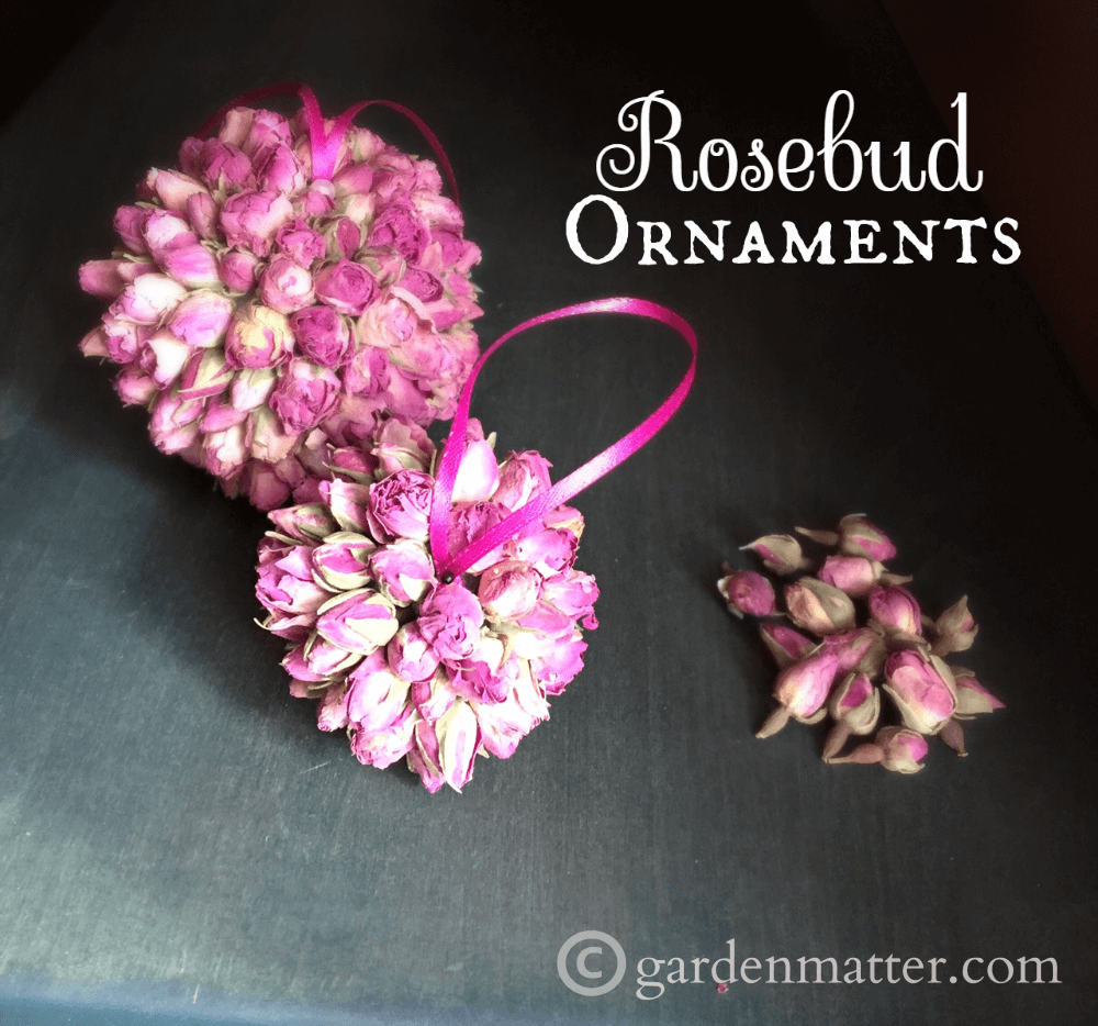 Rosebud Ornaments Handmade for the Holidays