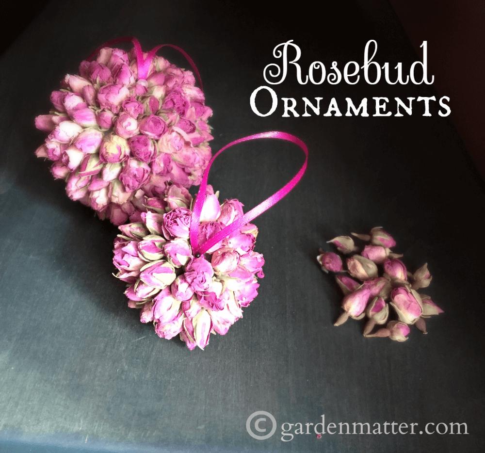 Handmade Rosebud Ornaments