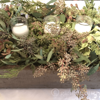 Dried Hydrangea & Seeded Eucalyptus Centerpiece