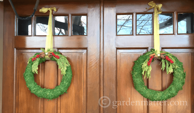 Easy moss covered wreaths for the winter season.