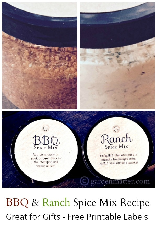 Homemade bbq and ranch seasoning mix