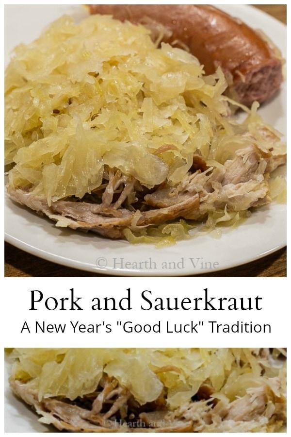 Pork and sauerkraut good luck on New Year's day