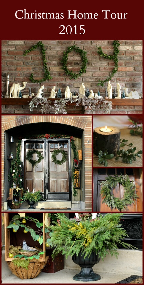 This Christmas Home Tour which highlights several projects you my be interested in creating in your own home.