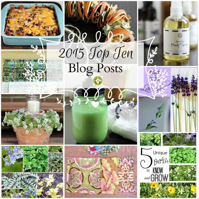 2015 Top Ten Blog Posts collage - gardenmatter.com