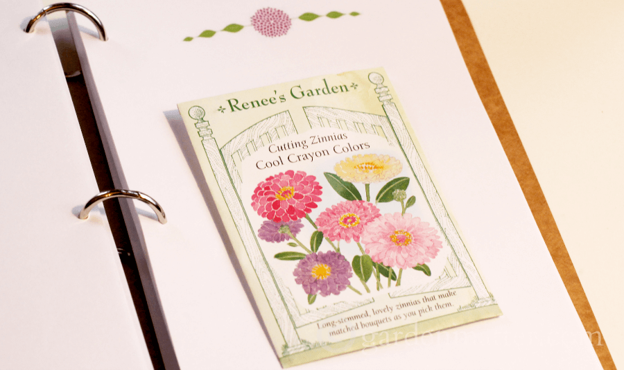 Garden journal seeds