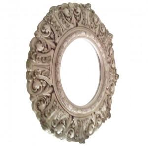 Vintage Victorian Round Mirror