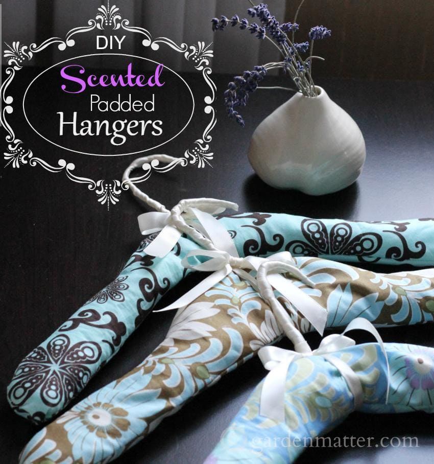 Learn how to make scented padded hangers with simple wire hangers, fragrant lavender and scraps of fabric.