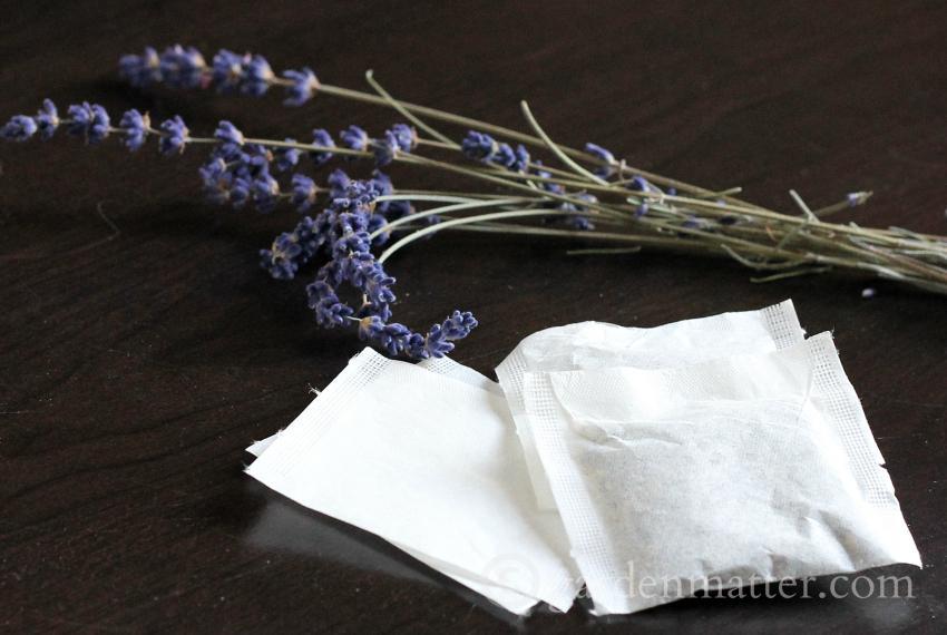 Lavender tea bags ~ gardenmatter.com