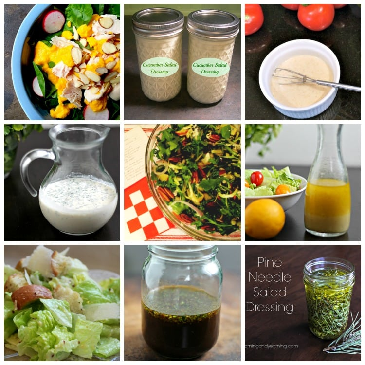 Nine homemade salad dressing recipes.