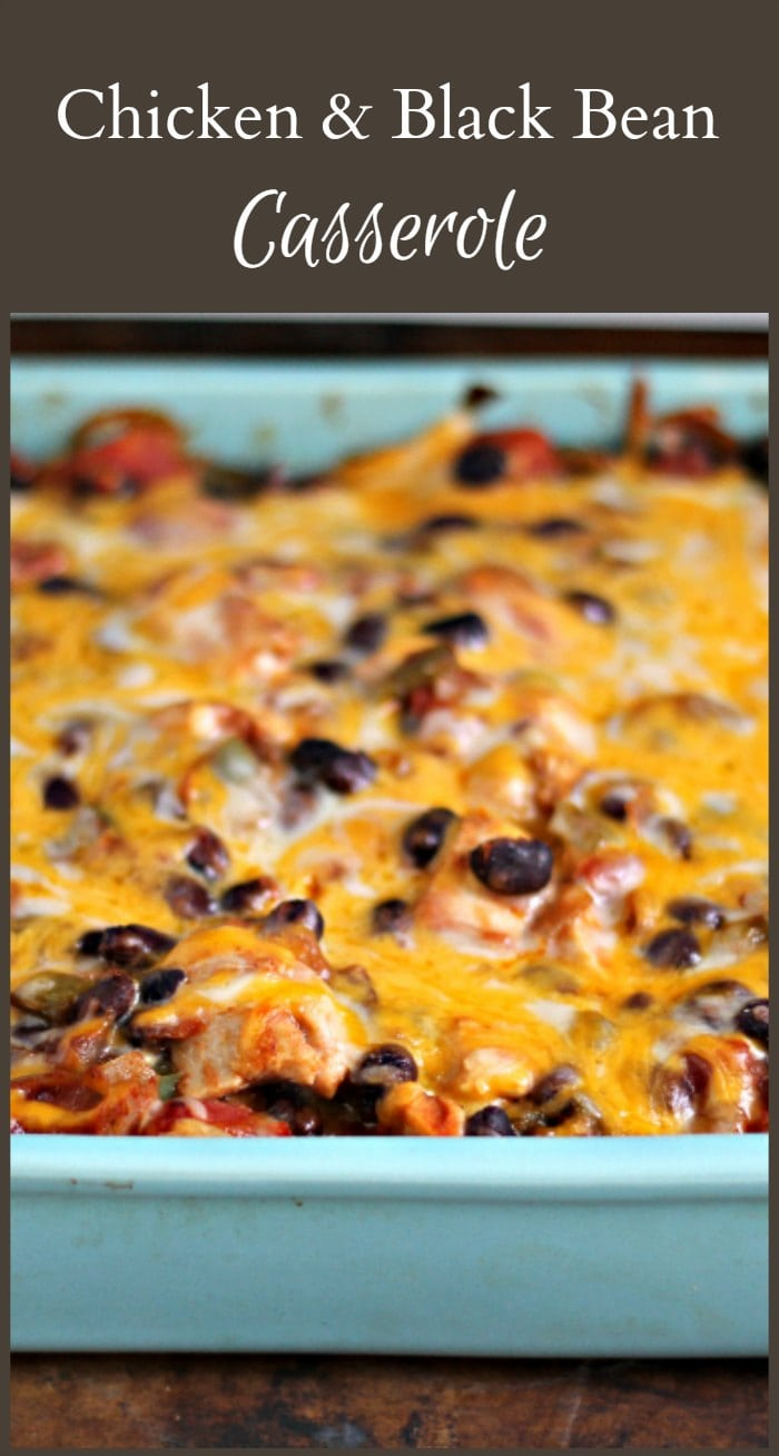 Make this easy chicken black bean casserole recipe. It's very adaptable & sure to be a family favorite.