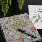 Herbarium journal and pressed flowers