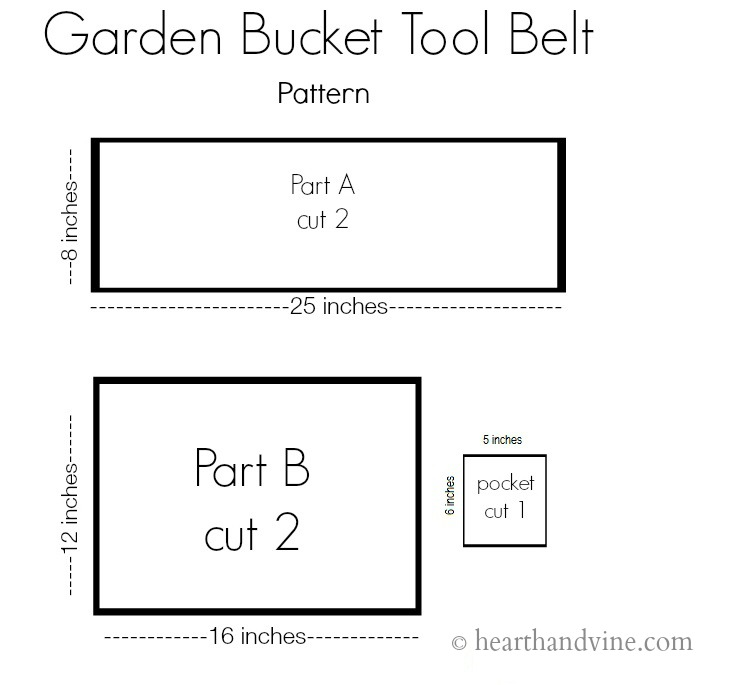 pattern for toolbelt sewing project