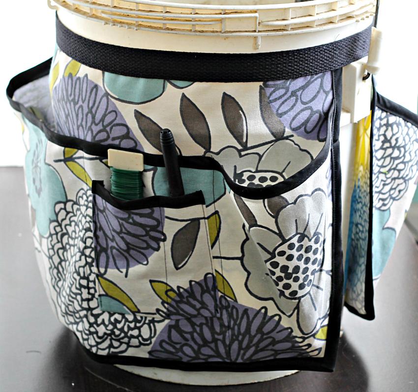 Floral garden bucket toolbelt