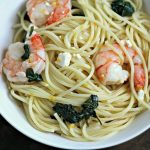 Meyer Lemon Pasta with Shrimp, Spinach & Feta